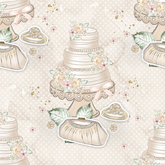 Design paper pack with a fabulous bride