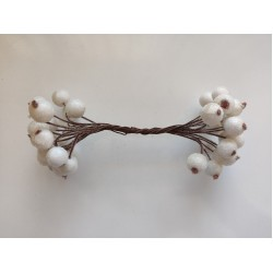 Candied balls on a wire 1 cm- white