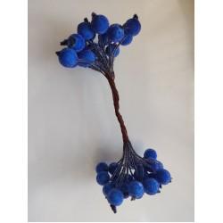 Candied balls on a wire 1 cm- dark blue