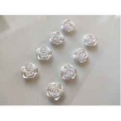 Rose self-stick - white- 8 pcs