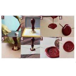 Метален печат за восък - Цвете