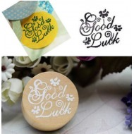 Wooden rubber stamp - Good luck