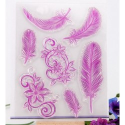 Transparent silicone seal - Feathers