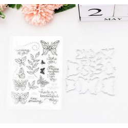 Stamps and punches for cutting - Butterflies