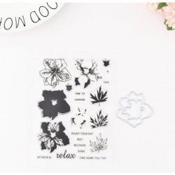 Силиконов печат и щанц за изрязване - Многопластови цветя