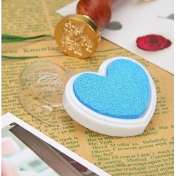 Мастило сърце - син цвят