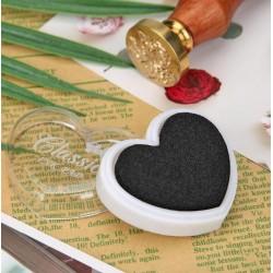 Мастило сърце - черен цвят