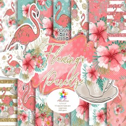 Design paper pack - Flamingos