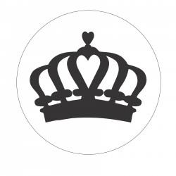 Metal wax seal stamp - crown