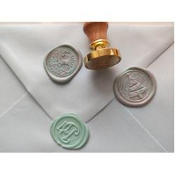 Metal wax seal stamp - christmas tree