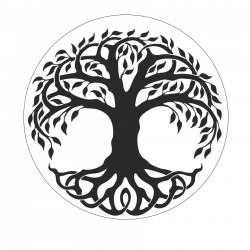 Metal wax seal stamp - tree