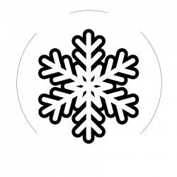 Metal wax seal stamp - snowflakes