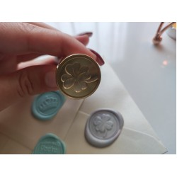 Metal wax seal stamp - clover
