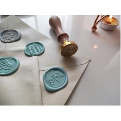 Metal wax seal stamp - pigeons
