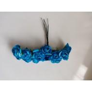 Paper flowers 12 pcs.- blue
