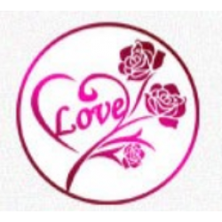 Metal wax seal - love with rose