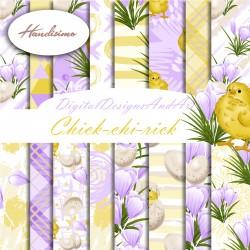 Design paper - Chick-chi-rick 8 x 8 inches