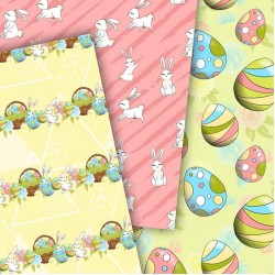 Design paper - Easter bunny 8 x 8 inches