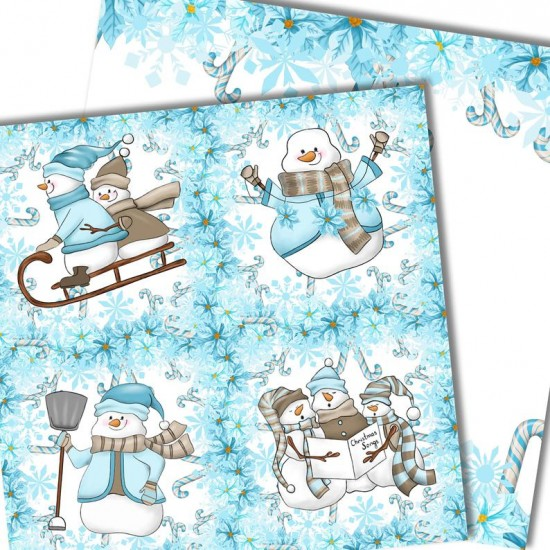 Christmas design paper - snowman papers