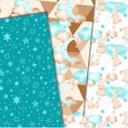 Design paper - Good night, bunny boy 8 x 8 inches