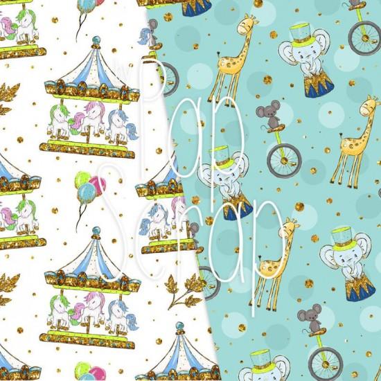 Design paper - Circus 8 x 8 inches