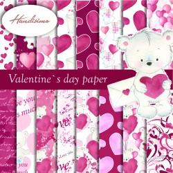 Design paper - Valentine's day paper - 8 x 8 inches