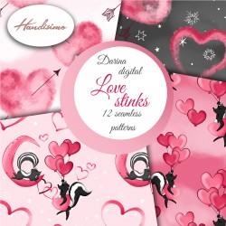 Design paper - Love stinks - 8 x 8 inches