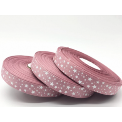 5yards 25mm Pink Printing Star Grosgrain Ribbon