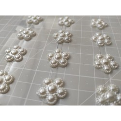 White flower self-stick - 8 pcs