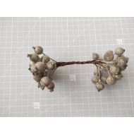Candied balls on a wire 1 cm- golden