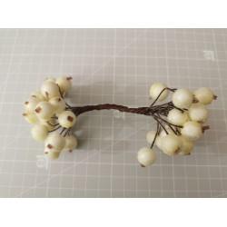 Candied balls on a wire 1 cm- milk white