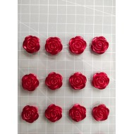 Rose self-stick - red - 8 pcs