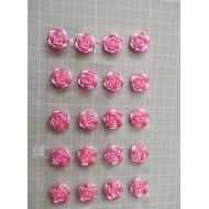 Pink rose self-stick - 8 pcs