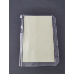 Transparent pocket A5 with zipper for cutting dies