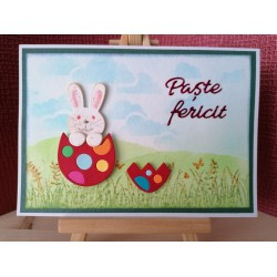 Cutting dies in Romanian - Happy Easter(Paște fericit)