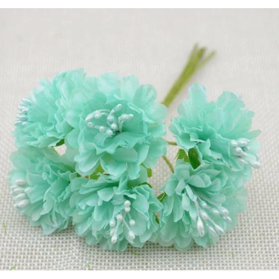 Flowers - 6 pcs - light blue