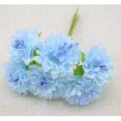 Flowers - 6 pcs - sky blue