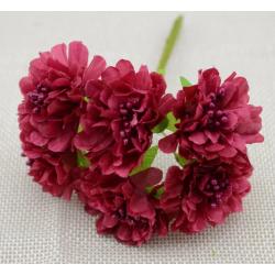 Flowers - 6 pcs - dark red
