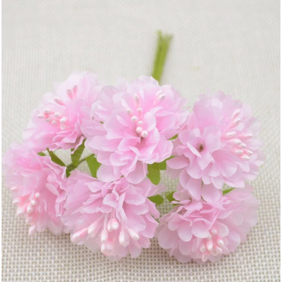 Flowers - 6 pcs - light pink