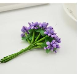 Lilac flowers - 12 pcs