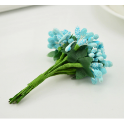 Light blue flowers - 12 pcs