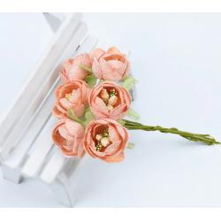 Flowers - 6 pcs - orange