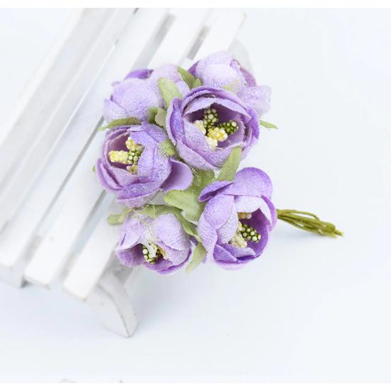 Flowers - 6 pcs - lilac
