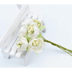 Flowers - 6 pcs - white