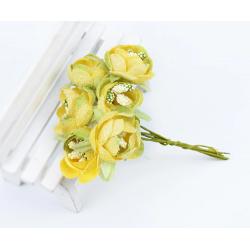 Flowers - 6 pcs - yellow