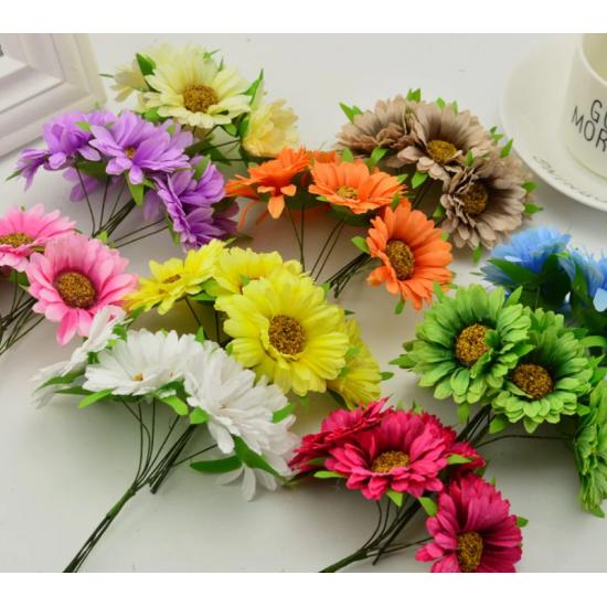 Flowers - 3 pcs white