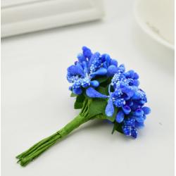 Dark blue flowers - 12 pcs