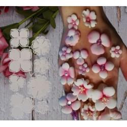 Шаблон за изрязване и релеф - цветя