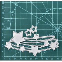 Шаблон за изрязване и релеф - звезди