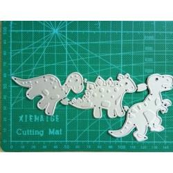 Шаблон за изрязване и релеф - динозавърчета